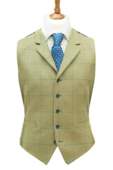 Christopher Waistcoat in Pear Green